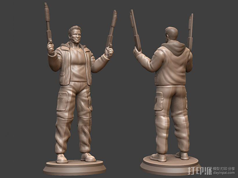《终结者:创世纪》之T-800 3D打印模型渲染图