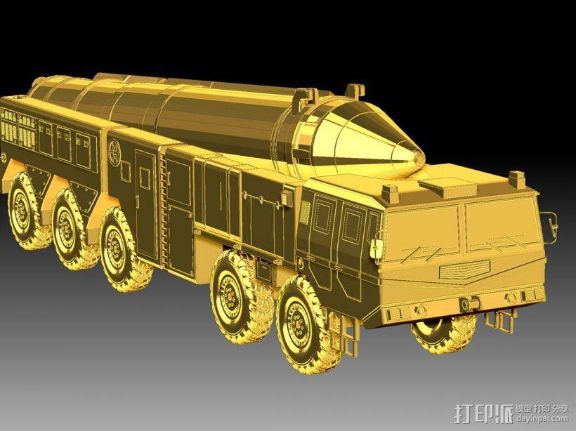 东风21导弹  3D打印模型渲染图