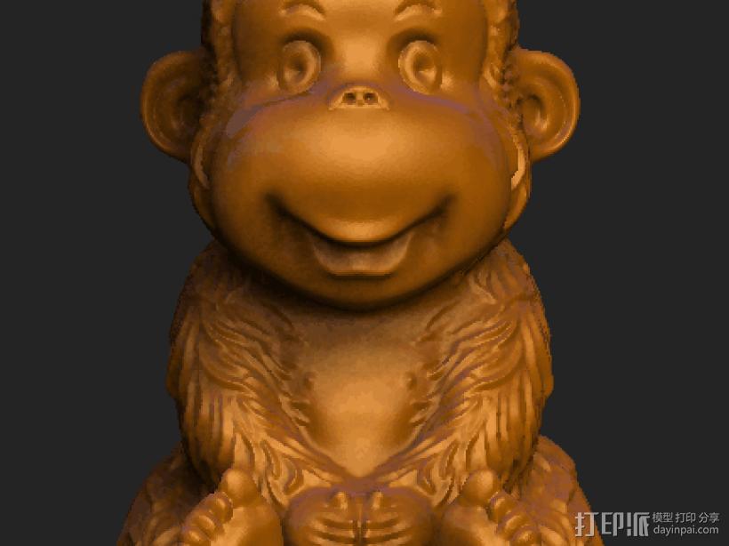 ZB精雕 茶宠 四不猴一  不动猴 obj格式 3D打印模型渲染图