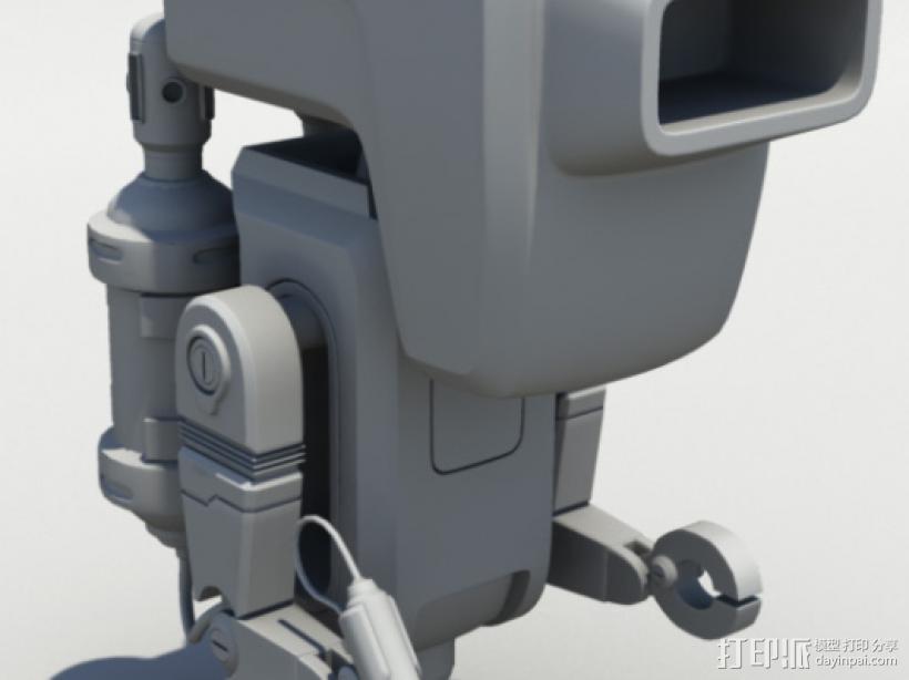 Buer_E机器人 3D打印模型渲染图