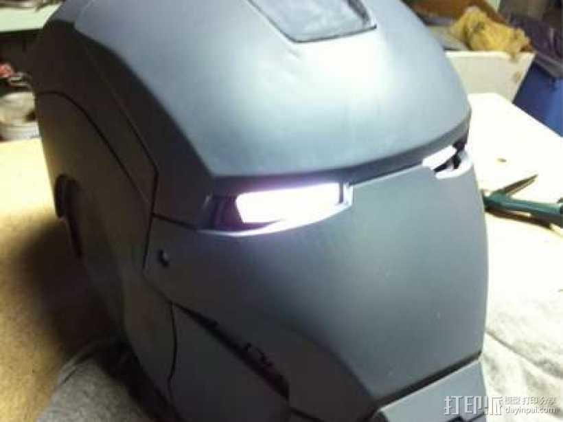 3D打印钢铁侠头盔!可穿戴! 3D打印模型渲染图
