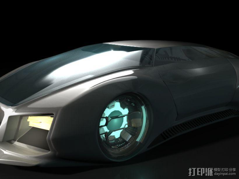 未来式跑车 3D打印模型渲染图