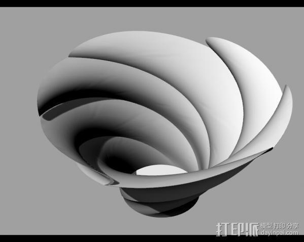Flower_Vase 3D打印模型渲染图