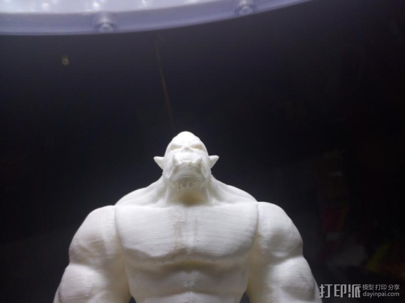 肌肉兽人 3D打印模型渲染图