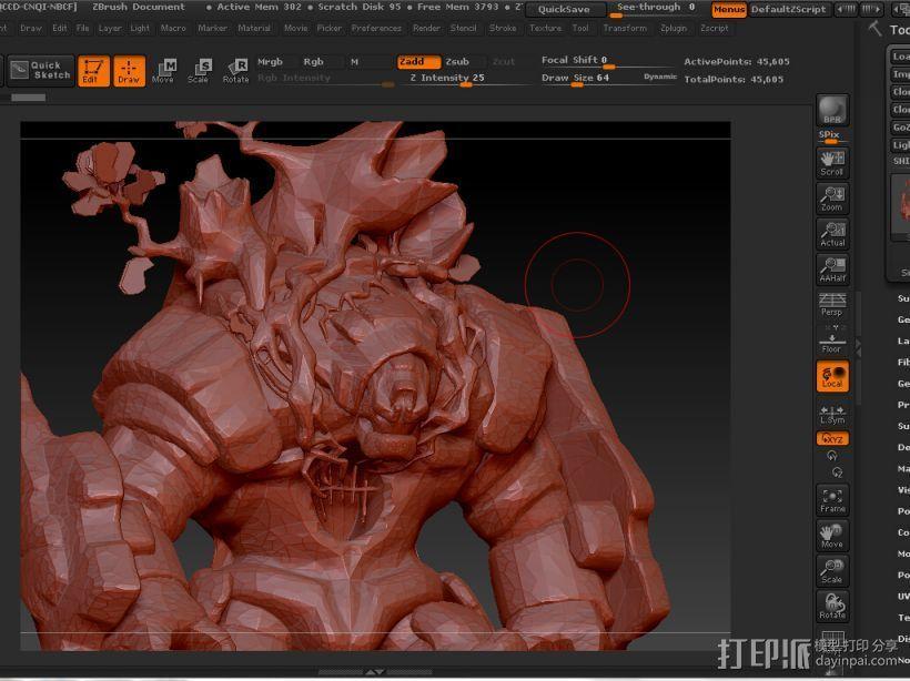 树人~炒鸡帅~可以直接打印。下面有我的上色图 3D打印模型渲染图