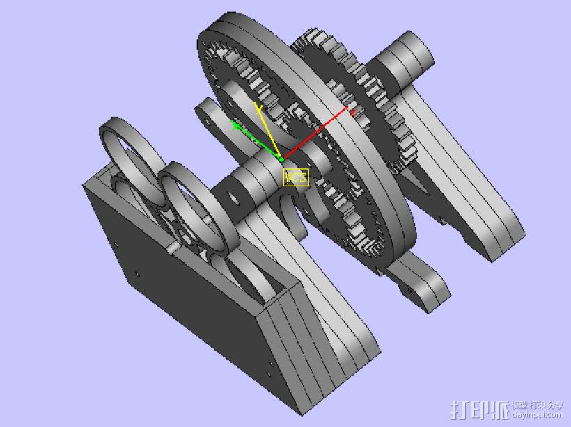 传送齿轮 3D打印模型渲染图