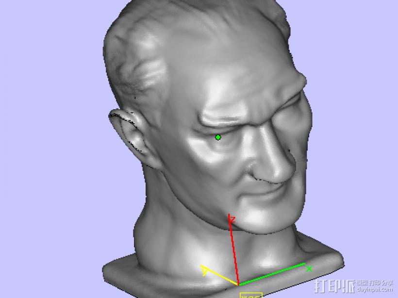 扫描头像 3D打印模型渲染图