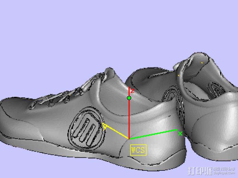 鞋子 3D打印模型渲染图