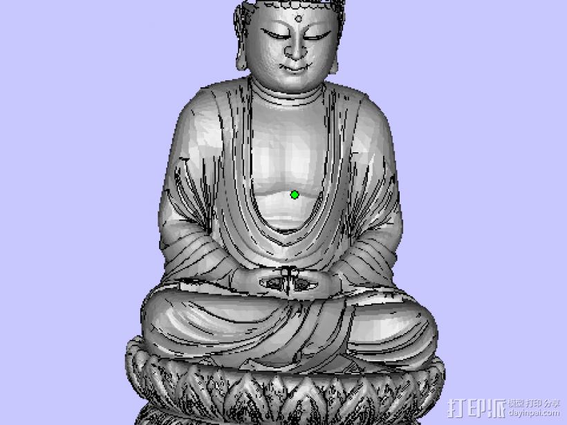 观音 3D打印模型渲染图