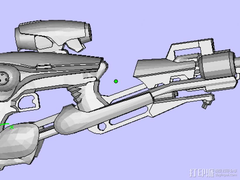 激光枪 3D打印模型渲染图