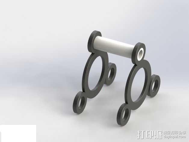通用长丝轴架 3D打印模型渲染图