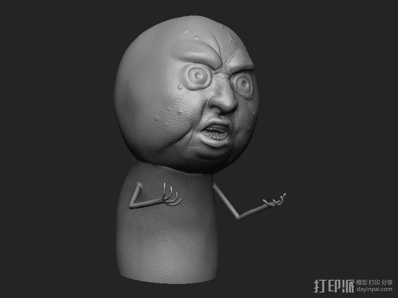暴走漫画经典形象 3D打印模型渲染图