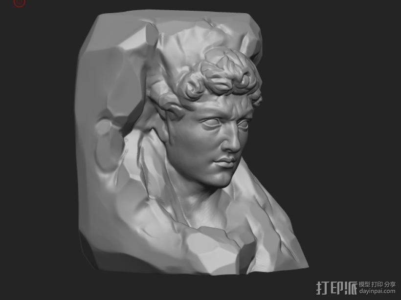大卫 3D打印模型渲染图