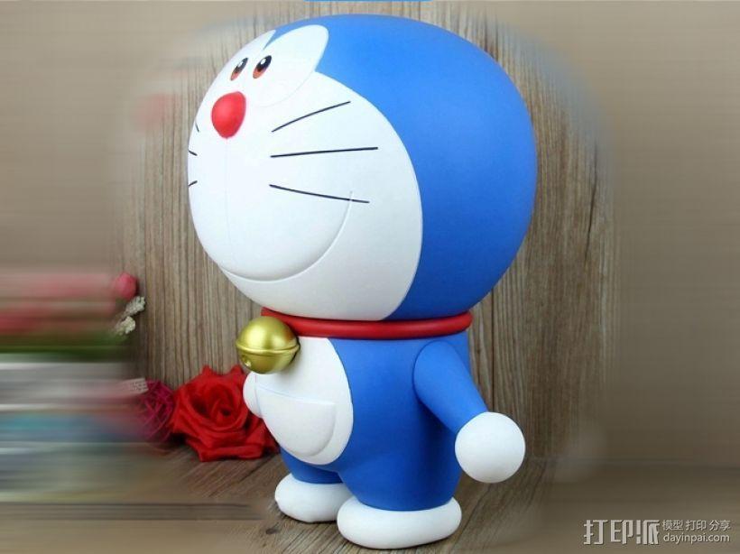 蓝胖子-哆啦A梦 3D打印模型渲染图