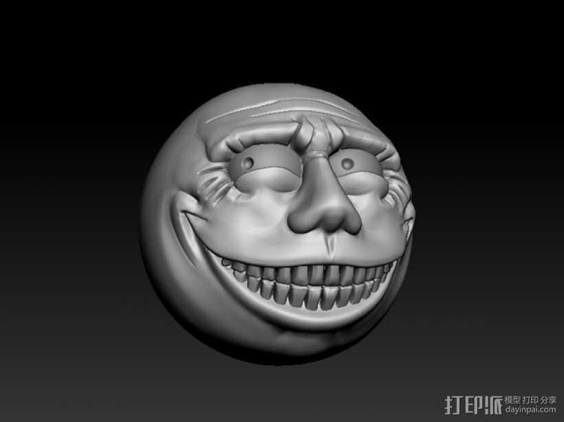 暴漫  表情   3D打印模型渲染图