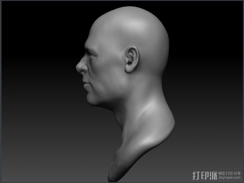 Brad Pitt高精模型 3D打印模型渲染图