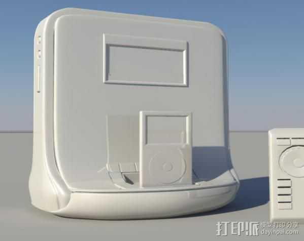 mp3 3D打印模型渲染图