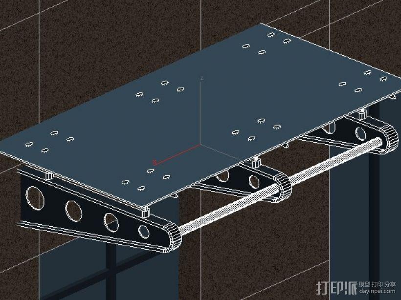 轻钢雨棚 3D打印模型渲染图