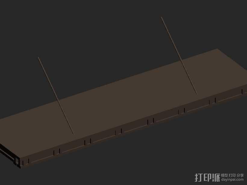 中式轻钢雨棚 3D打印模型渲染图