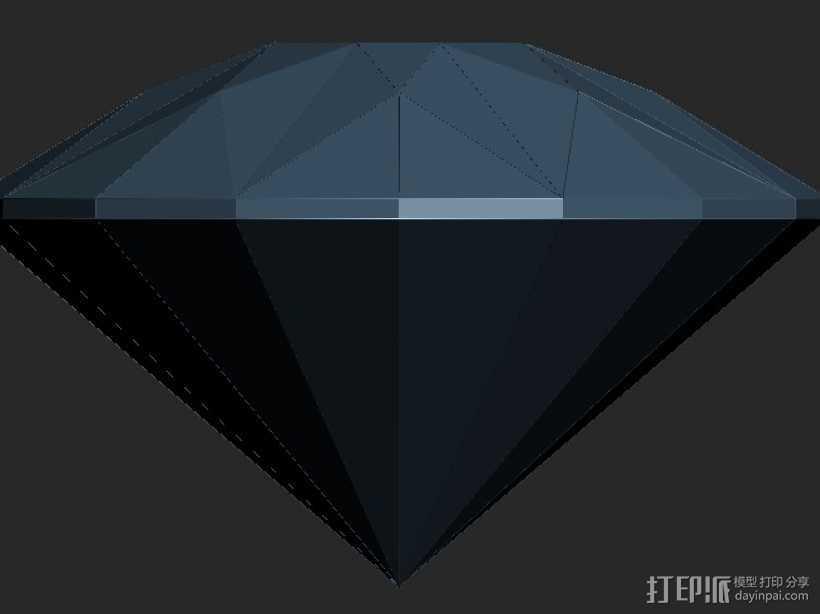 建筑造型钻石 3D打印模型渲染图