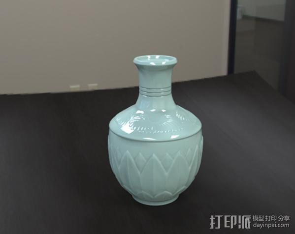 瓷瓶 3D打印模型渲染图