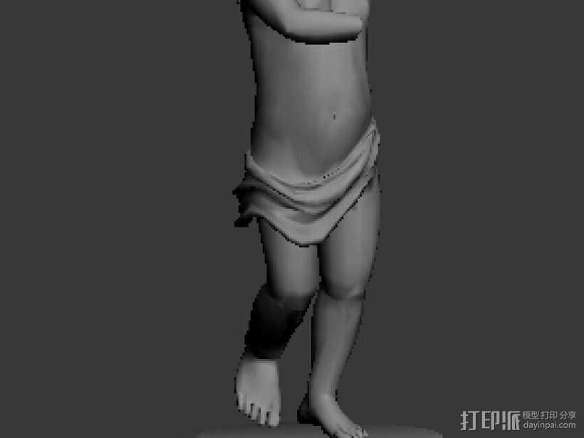 1311天使像 3D打印模型渲染图