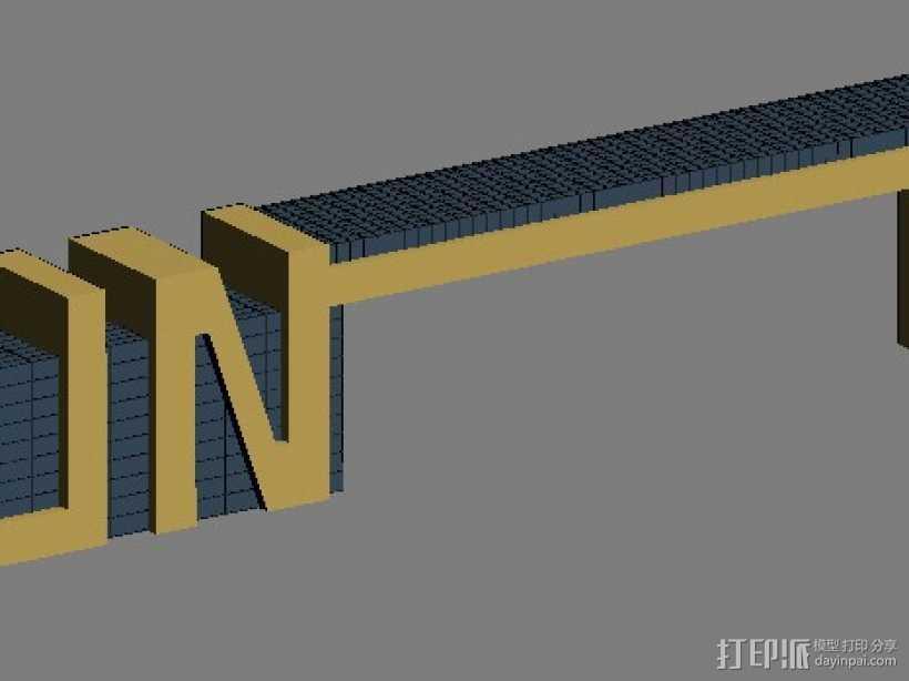 大门  3D打印模型渲染图