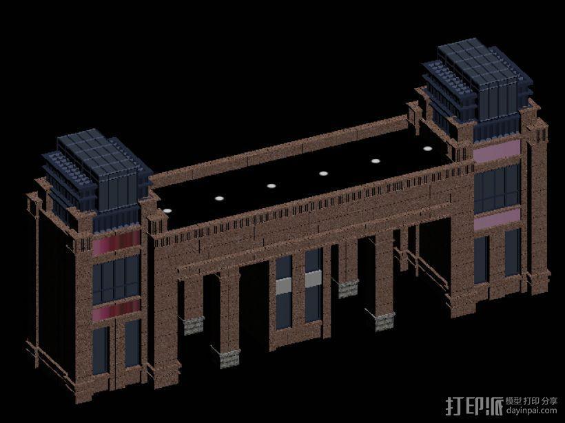 519大门 小区001 3D打印模型渲染图