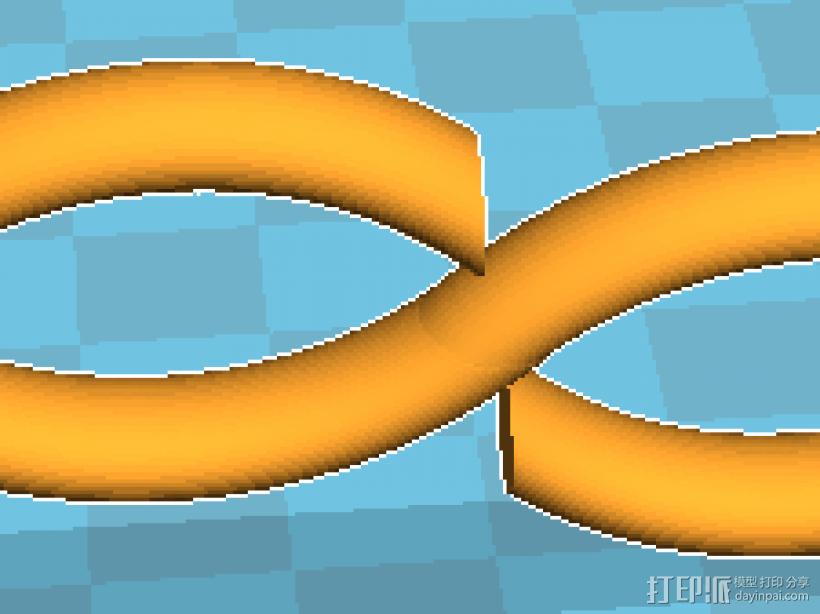 无穷大符号 3D打印模型渲染图
