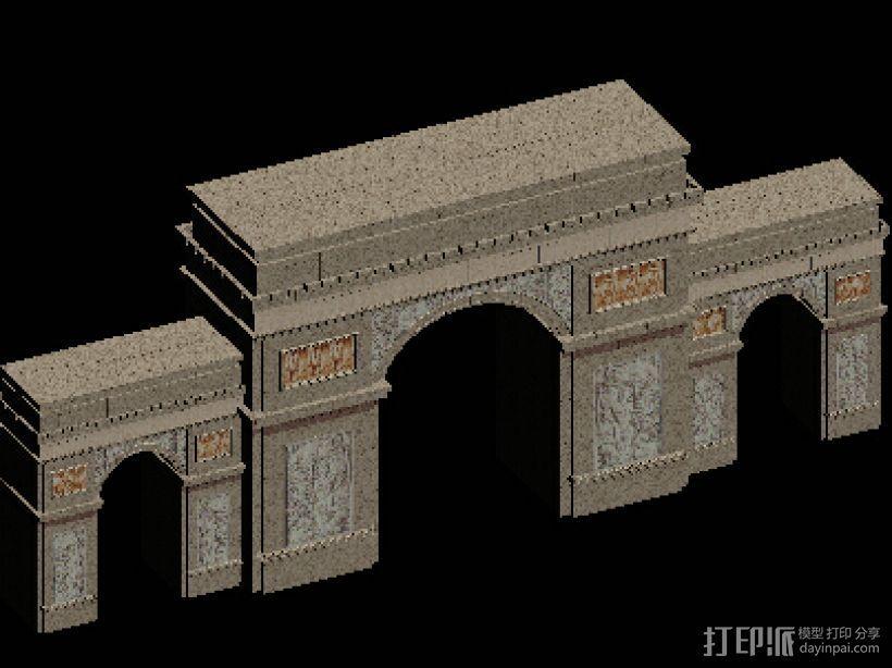 大门 凯旋门 3D打印模型渲染图