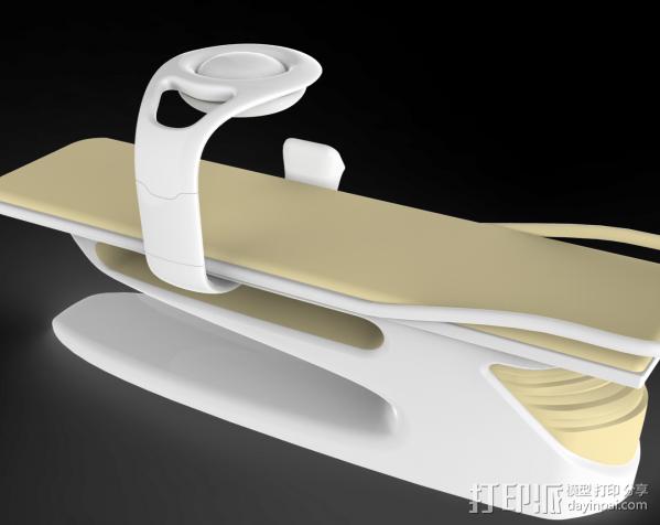光动力治疗器 3D打印模型渲染图
