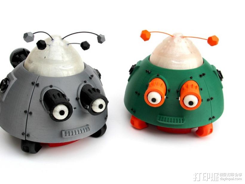 么么哒-虫仔机器人 3D打印模型渲染图