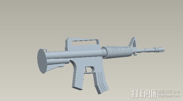 步枪 3D打印模型渲染图