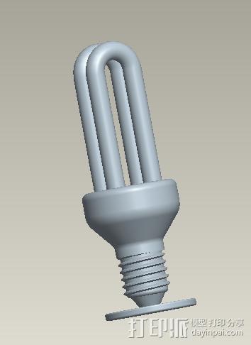 日光灯 3D打印模型渲染图