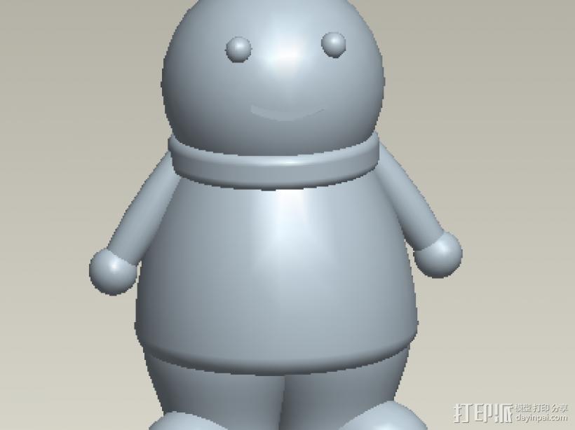 小玩偶 3D打印模型渲染图