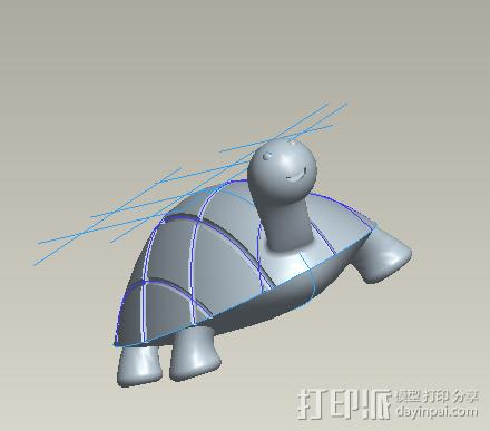 乌龟 3D打印模型渲染图