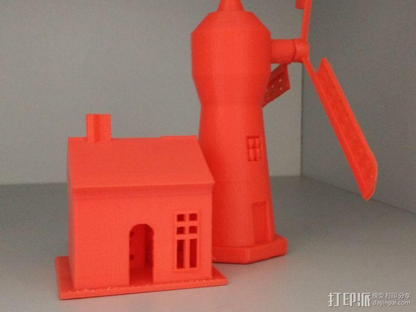 风车屋子 3D打印模型渲染图