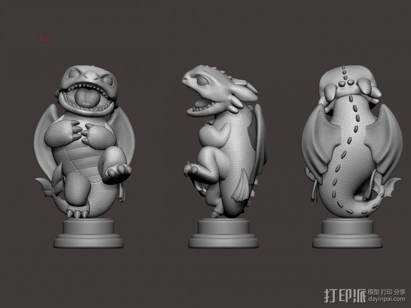 驯龙高手_无牙 3D打印模型渲染图