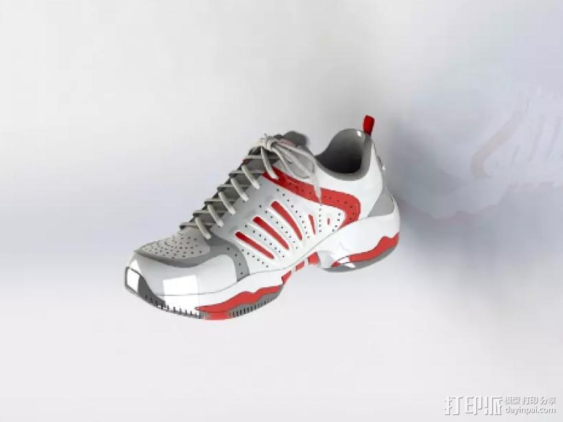 球鞋模型 3D打印模型渲染图