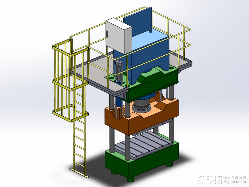 紧密冲床 3D打印模型渲染图