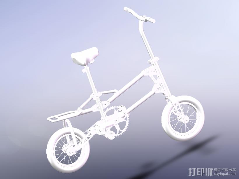 小型自行车 3D打印模型渲染图