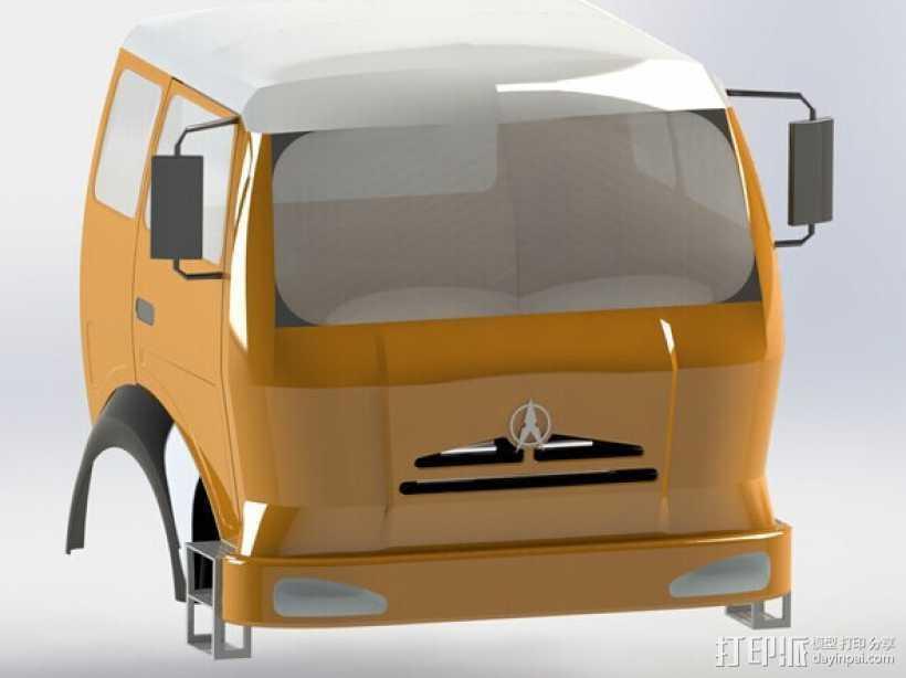 车头 3D打印模型渲染图