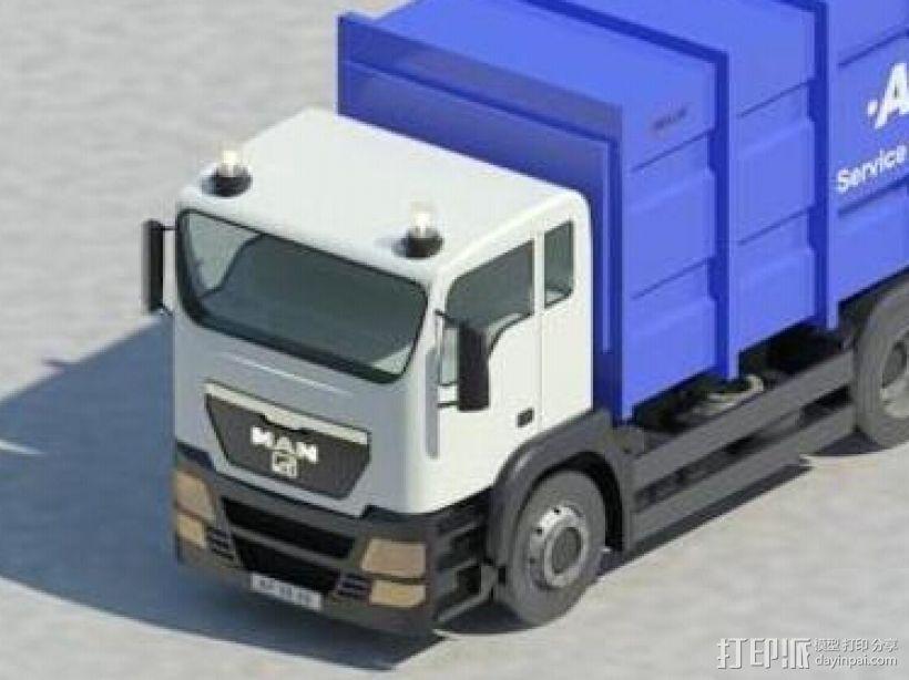 集装箱货车 3D打印模型渲染图