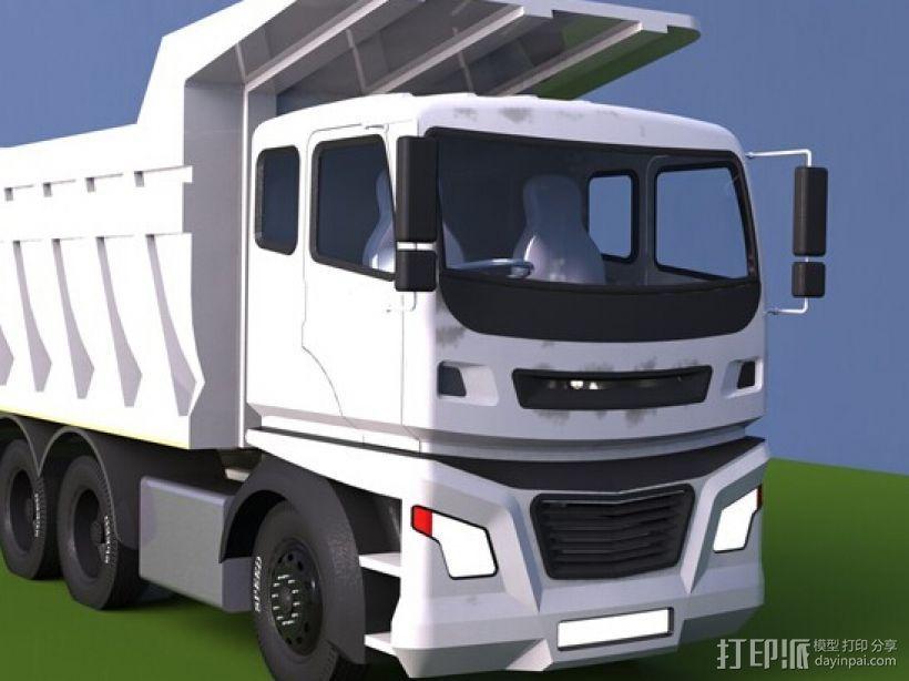 自卸车 3D打印模型渲染图