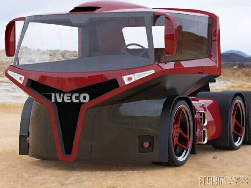 概念车头 3D打印模型渲染图