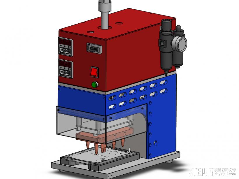 S4塑料热熔接铆合机 3D打印模型渲染图