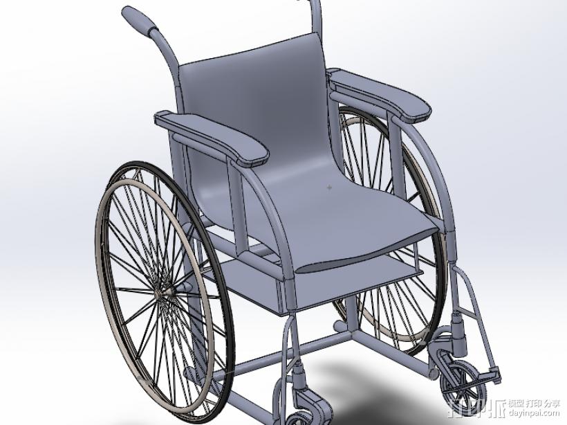 轮椅 3D打印模型渲染图