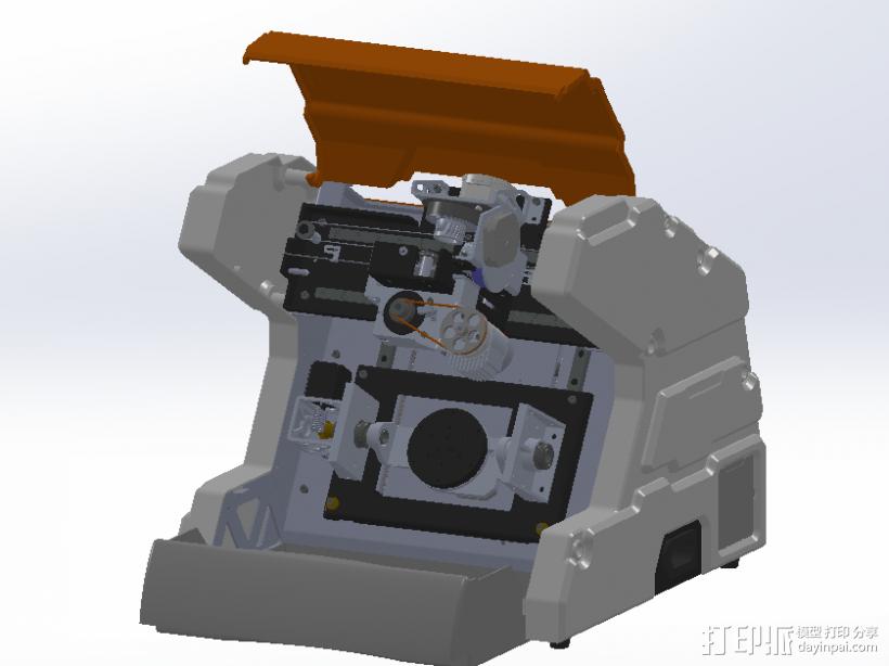 数控铣床 3D打印模型渲染图