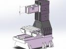 立式加工中心光机模型
