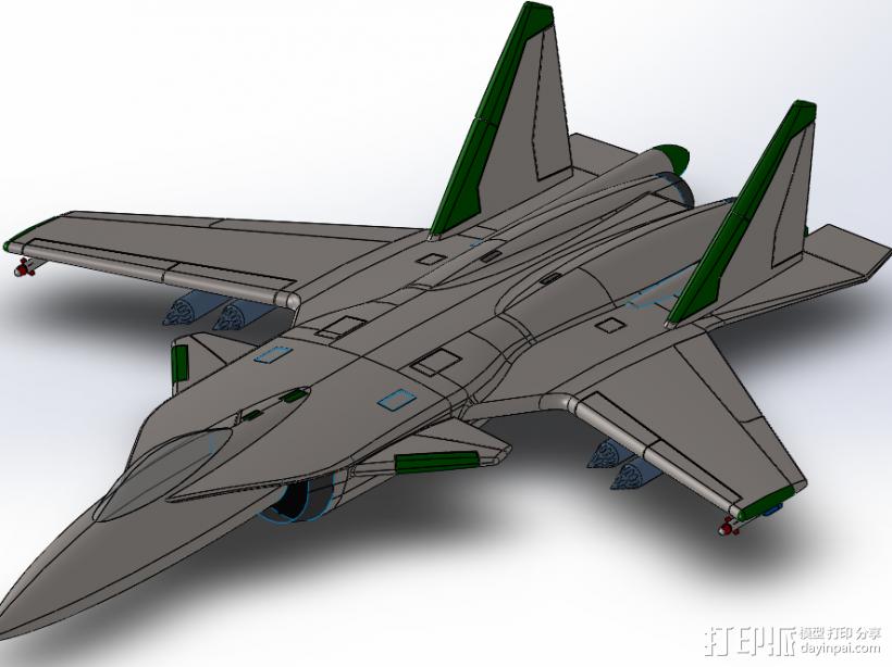 苏-34 3D打印模型渲染图